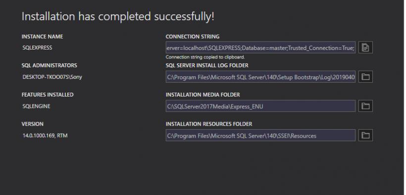 Download & Install Free Microsoft SQL Server & Install