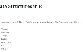 Data Structures in R 33