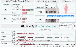 HR Attrition Analytics using Age , Average Monthly Income & Distance From Home 62