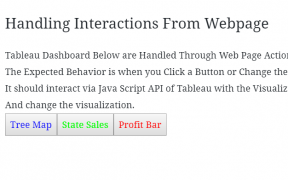 Tableau Server - Java Script API Call & Handling Interactions From website 32