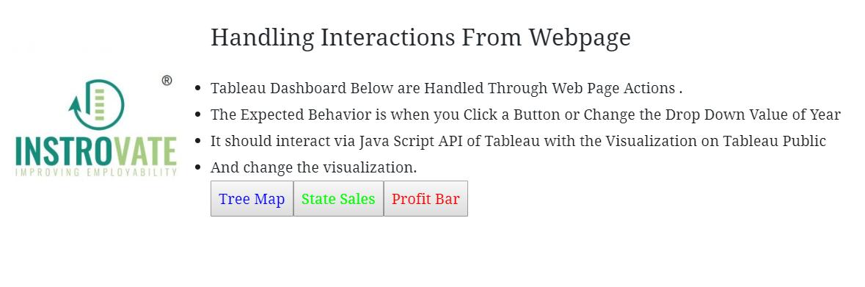 Tableau Server - Java Script API Call & Handling