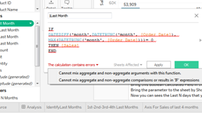 "Understand And  Fix  Tableau Error ""Cannot Mix Aggregate and Non Aggregate "" 89"