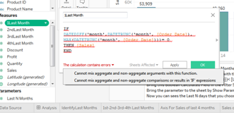 """Understand And  Fix  Tableau Error """"Cannot Mix Aggregate and Non Aggregate """" 38"""