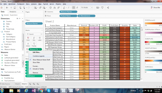 Tableau Features Explanation from Designing views and analyzing data perspective 107